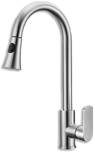 A stainless steel kitchen faucet is a great investment for any home. It comes with an amazing million-cycle guarantee!